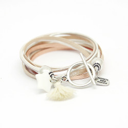 BRACELET LAUREN ROSE GOLD NACRE