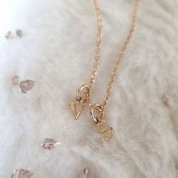 Collier mini Lettres or