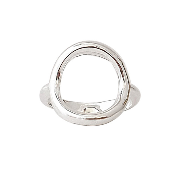 Bague grand rond or