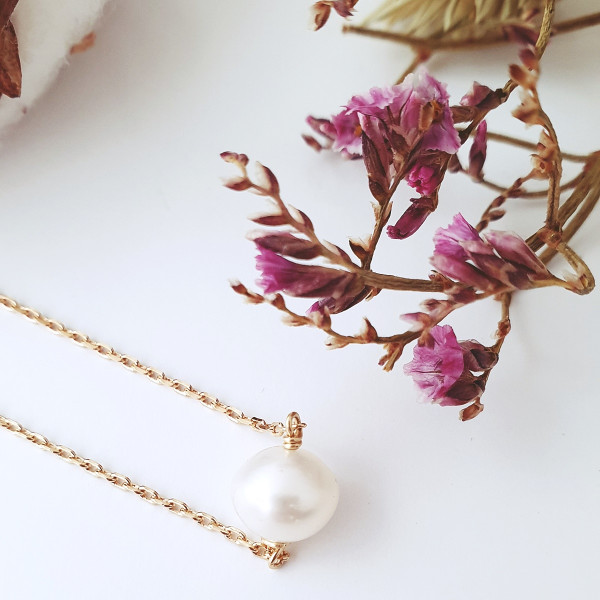 Collier Perle Sage