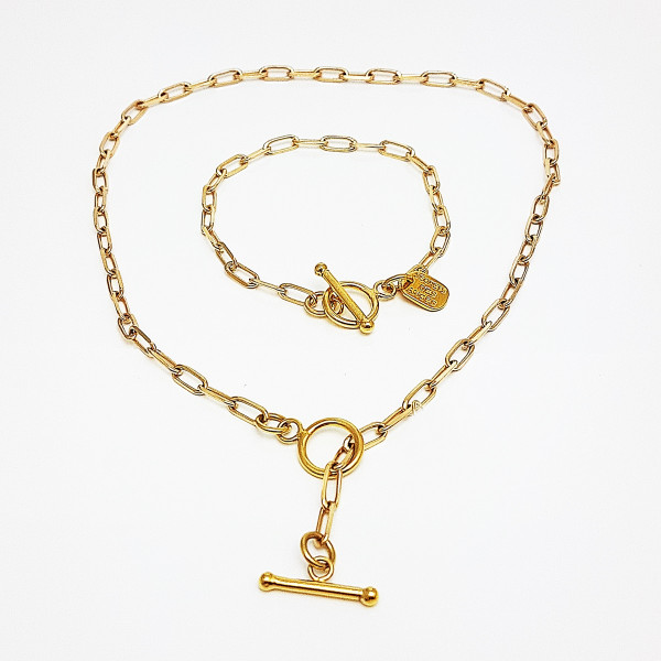 Collier Chaîne Maille Rectangle Valy