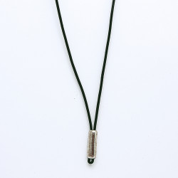 COLLIER TUBE CUIR HOMME