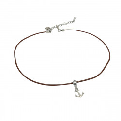 Collier ancre marine homme