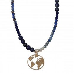 COLLIER FLY MAP MONDE ARGENT