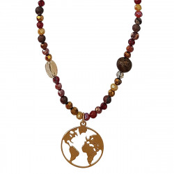 Collier map monde or