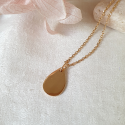 Collier goutte or femme Syra